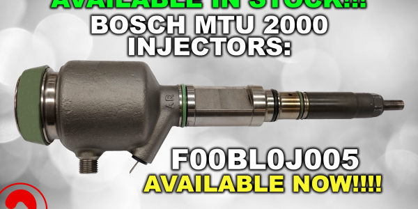 Bosch MTU 2000 injector: Availble in stock!