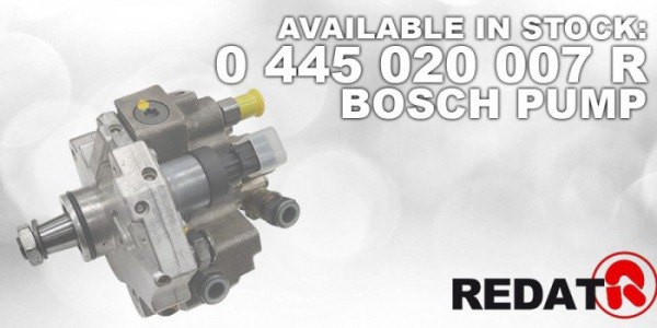 AVAILABLE IN STOCK: 0 445 020 007 R BOSCH PUMPS REMAN