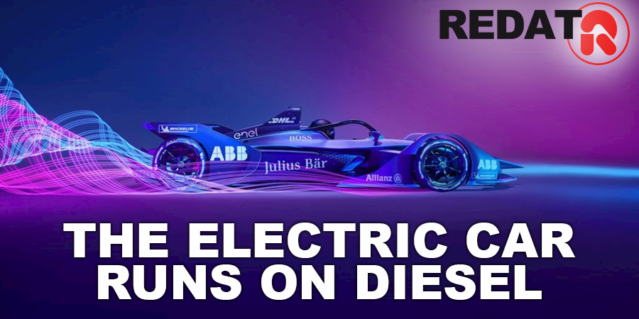 The electric car runs on Diesel