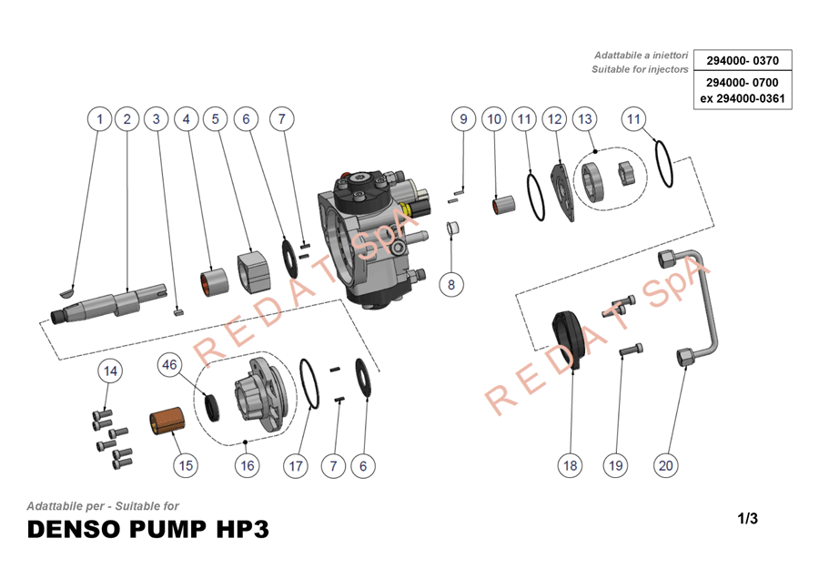 DENSO PUMP HP3 SIDE 1