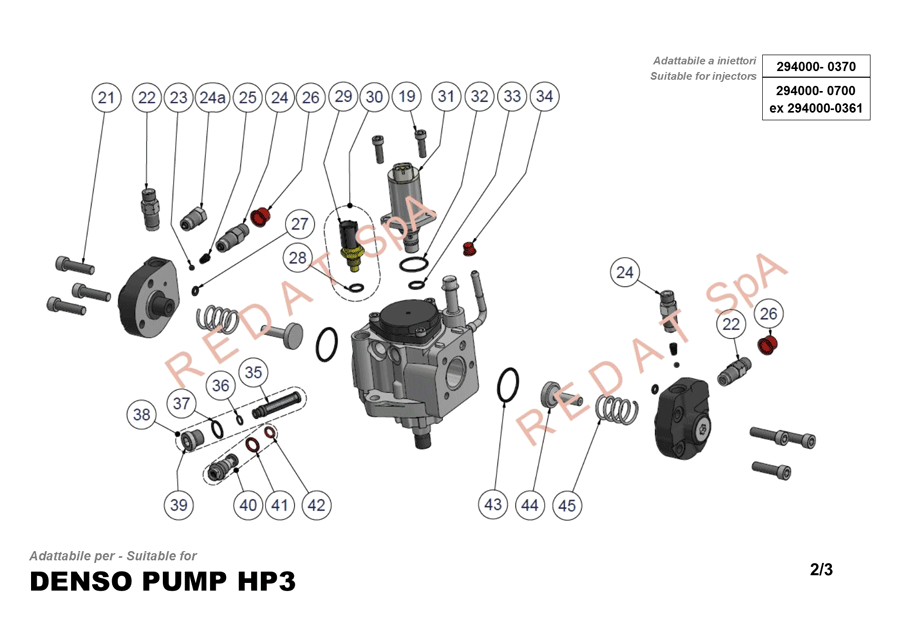 DENSO PUMP HP3 SIDE 2