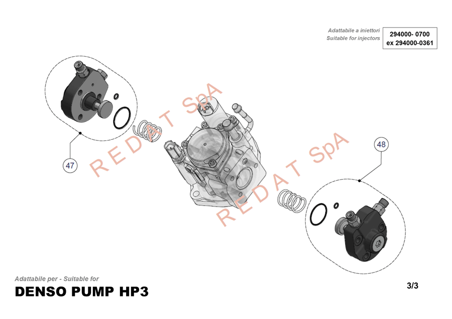 DENSO PUMP HP3 SIDE 3